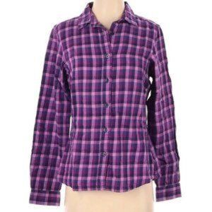 Columbia Button Down Plaid Flannel Shirt Too